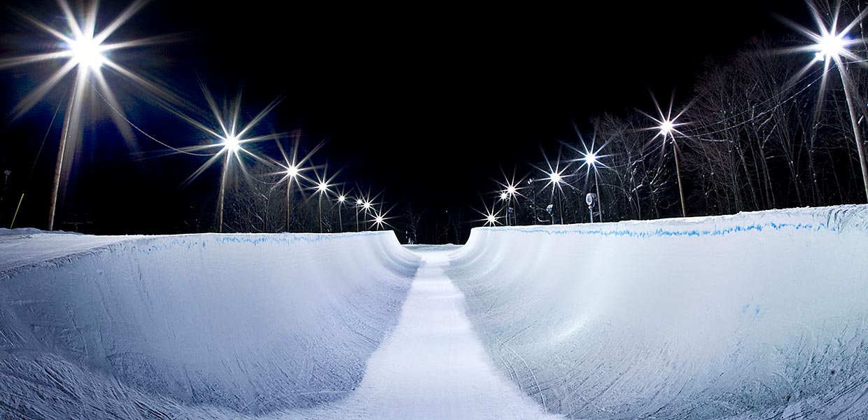 Olympic half pipe