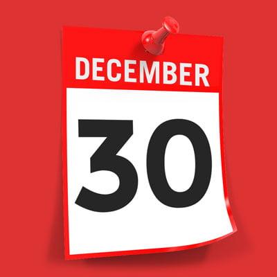 Due date December 30
